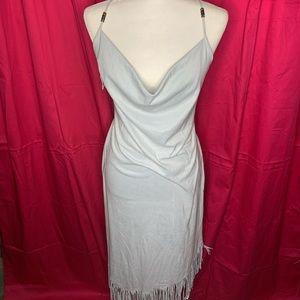 Light Blue Tassle Dress